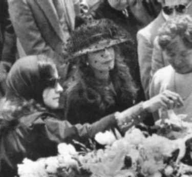 Rebecca and Yasmin at Rita's funeral